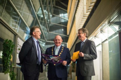 Significant Milestone in the Provision of 3rd Level Education in Ireland as UL and MIC Launch Joint Liberal Arts Programme. Michael Breen, Dean of the Faculty of Arts, Mary Immaculate College, Mayor of the City and County of Limerick, Cllr. Kieran OÕHanlon and Prof. Tom Lodge, Dean, Faculty of Arts, Humanities and Social Sciences at the University of Limerick. at the launch in the council chamber of the Limerick City and County Council, Dooradoyle. Monday 5th December marked a significant milestone in the provision of third level education in Limerick, and indeed Ireland, as Mayor of the City and County of Limerick, Cllr. Kieran OÕHanlon, officially launched a Liberal Arts programme, to be jointly offered by the University of Limerick (UL) and Mary Immaculate College (MIC). UL and MIC have been offering successful BA programmes for decades, but this ambitious, far-reaching project will offer students a wider range of choices making it the largest jointly delivered programme in Ireland. From September 2017 up to 700 students will enrol in an enhanced liberal arts programme, with an offering of nineteen different subjects, allowing students a combination of more than 150 pathways. Pic Sean Curtin True Media.
