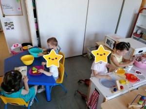 Les petits de la micro creche de Chazelles en visite à l'école