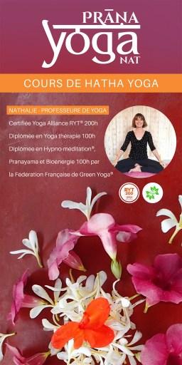 Flyer cours de Yoga aidé par l'AHTOUPIE