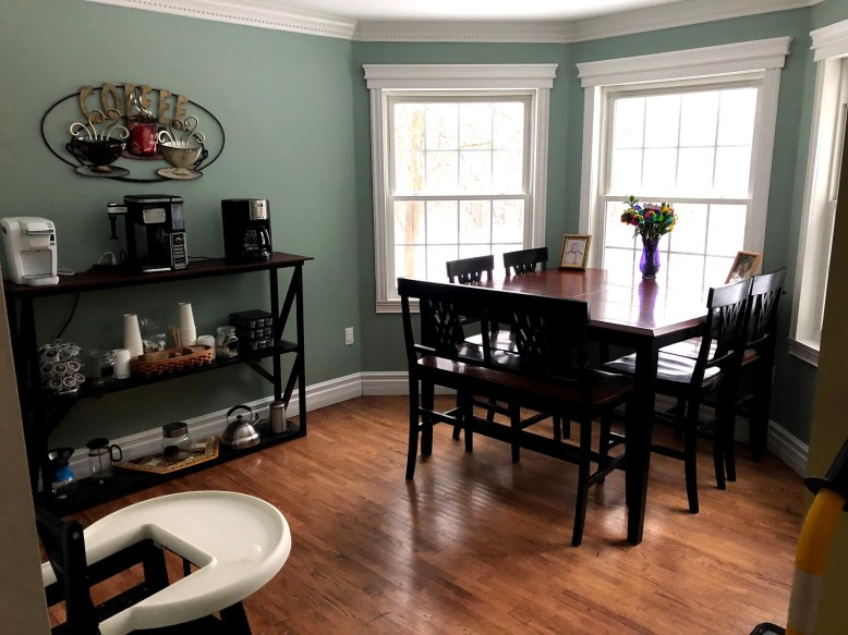 Refinished Table and Custom Coffee Bar