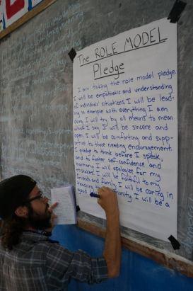 role model pleadge