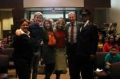 Silver Bells cast (left to right) Kym Whitehead, Kenton Duty, Laura Spencer, Bridgett Newton, Bruce Boxleitner, Antonio Fargas