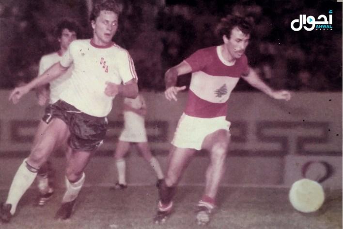 جريج في ثياب المنتخب ضد الولايات المتحدة الأميركية عام 1976
