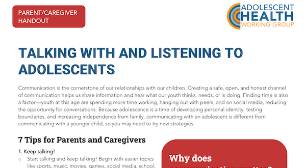 Talking with Adolescents Preview