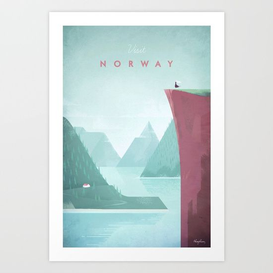 Norway by travel Poster Co