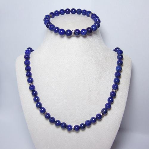 Blue Lapis Lazuli Necklace Bracelet Handcrafted Genuine