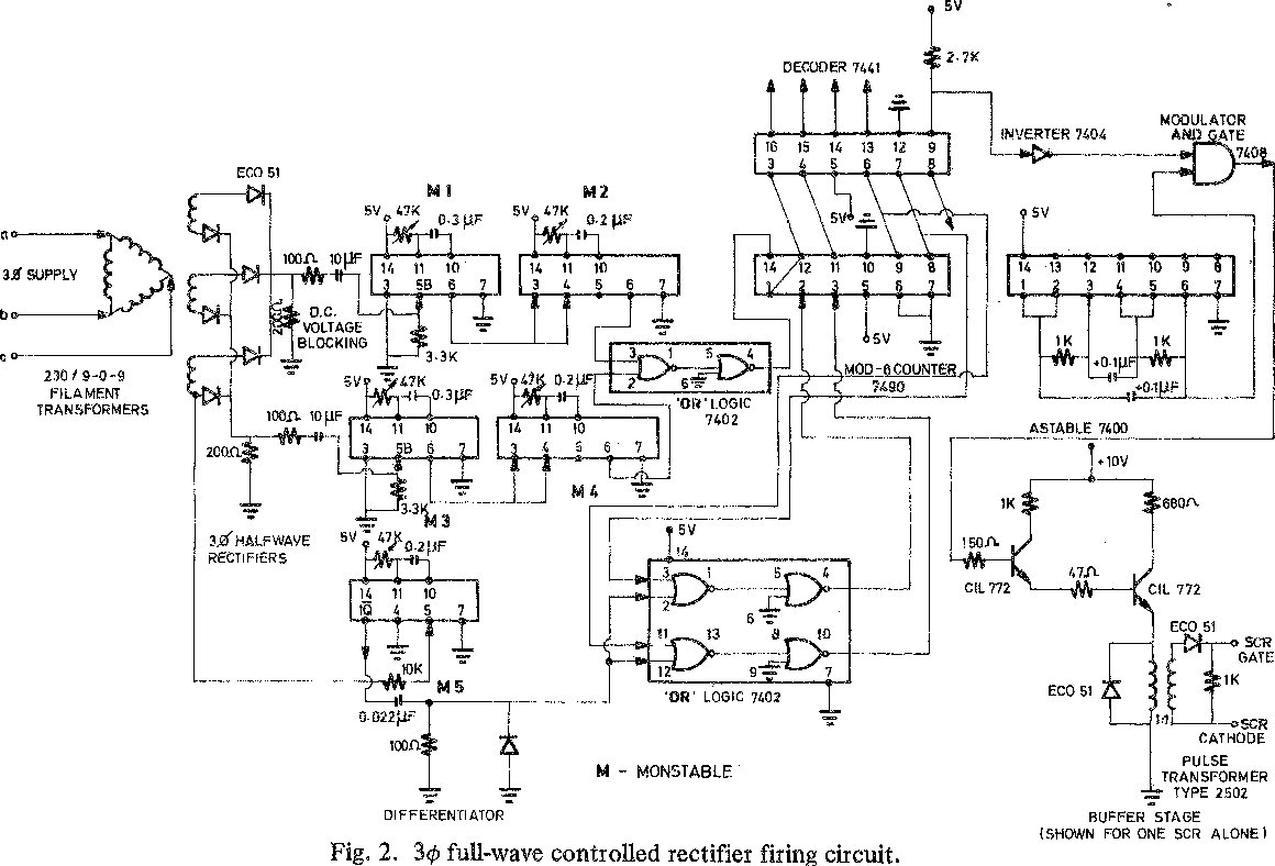 Figure 2 From Firing Circuit For Three Phase Thyristor