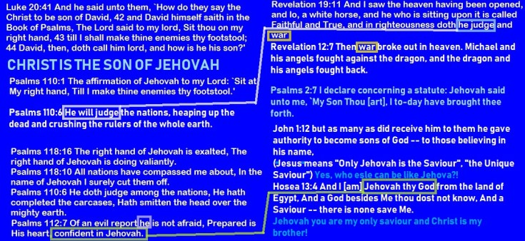 thechrististhesonofJehovah
