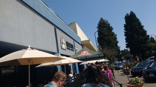 After the activation, stopping at Russian River Brewery for delicious craft brews