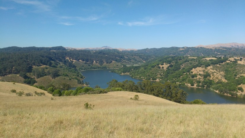 Good views of Lake Chabot on the way up.