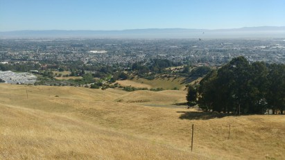 Looking out over Hayward, Oakland, and the bay from my activation spot.