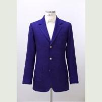 Single jacket made of vintage French raw-silk fabric with full canvas construction in English style. / Francia régi selyemburettből készült teljesvásznas klasszikus kézműves férfizakó angol stílusjegyekkel