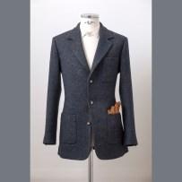 Extra heavy-weight Irish Donegal coatfabric by Dashing Tweeds with high traditional English Cut and full canvas making / A Dashing Tweeds vastag donegál kabátszövetéből készült sportzakó tradícionális angol teljes vásznas kidolgozással és szabással