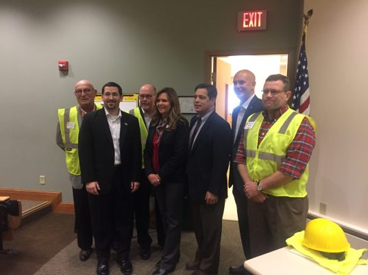 Legislators in attendance, from left, were H Readshaw, J Ortitay, J Marshall , C Bartolotta, J Costa, P Stefano and H English.