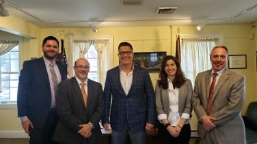 Pictured L to R: Sean Douty, John Beddia, Senator Mike Regan, Elysia Mikkelsen, Jeff Straub