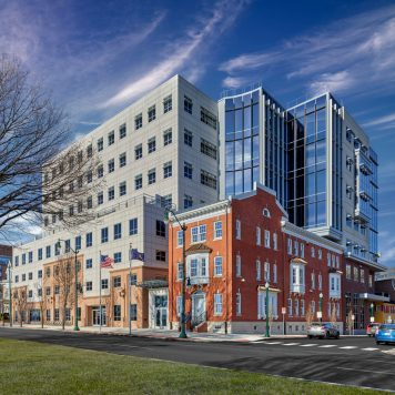 PHFA Passive House & LEED Platinum Tower Expansion and Historical Renovation | Harrisburg, PA | Don Pearse Photographers, Inc.