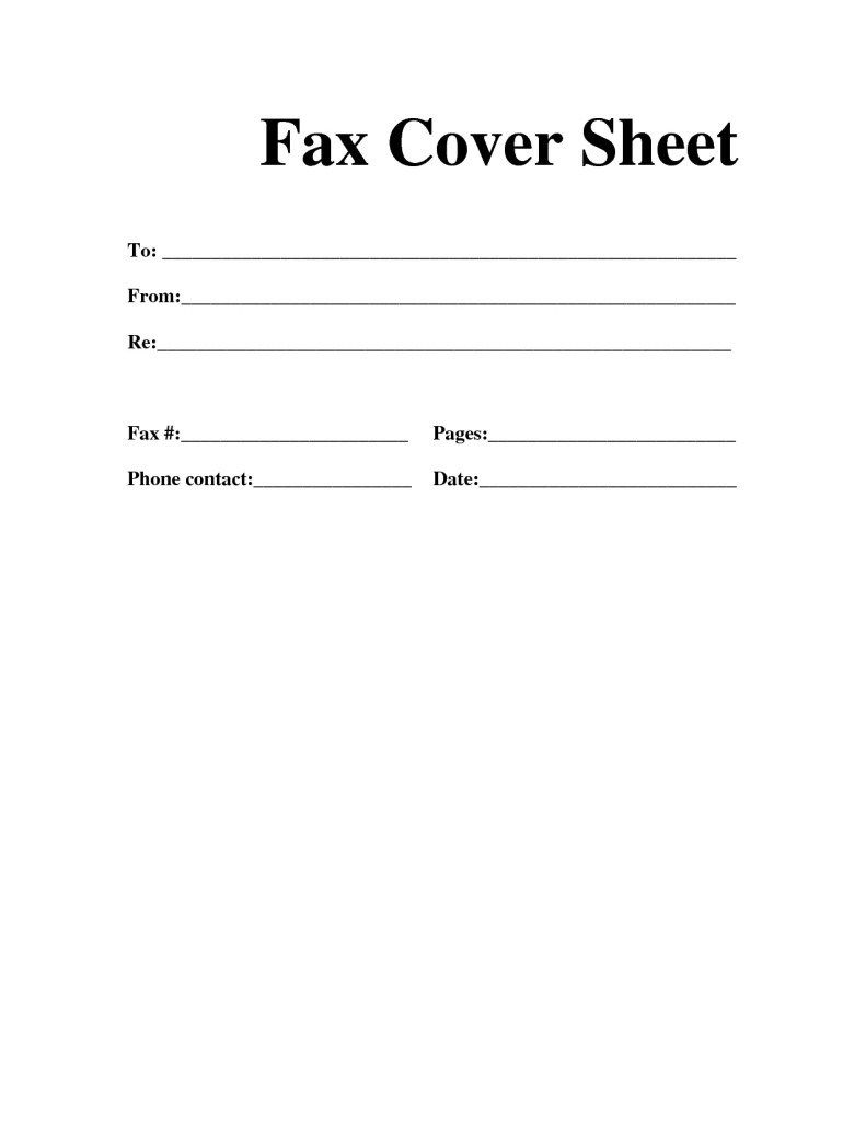 Free Fax Cover Sheet PDF Word Blank Template