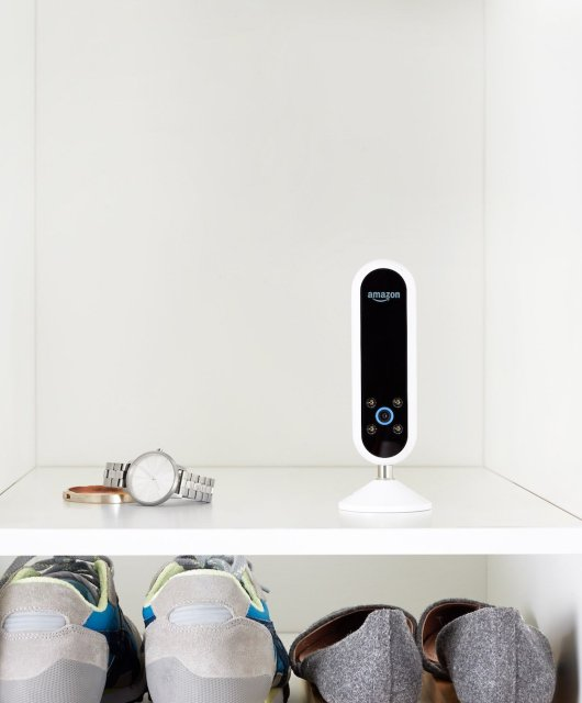 A photo of an Amazon Echo Look speaker unit - home AI