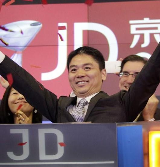 A photograph of leading members of JD.com, the largest Chinese retail operator.