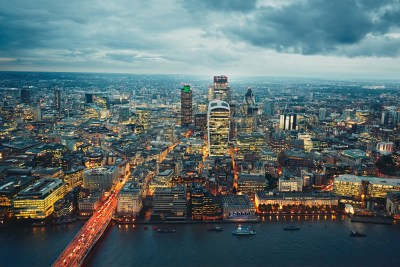 City of London at the dusk, The United Kingdom of Great Britain and Northern Ireland
