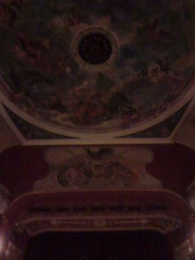 Theatre's hand painted ceiling