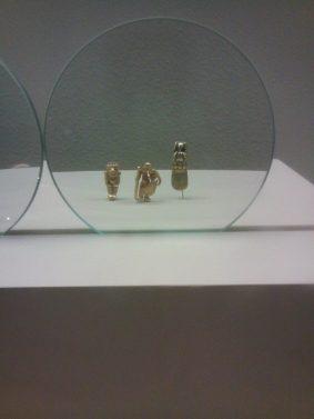 Cute gold sculptures
