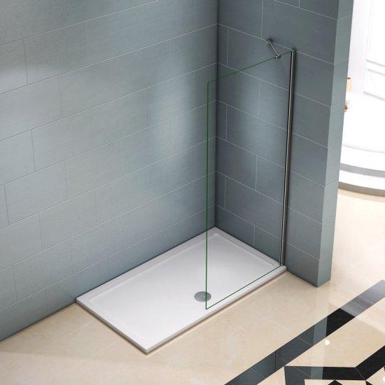 aica paroi de douche 680x1900x8mm paroi de douche fixe verre securite anticalcaire barre de fixation 45cm paroi de douche a l italienne
