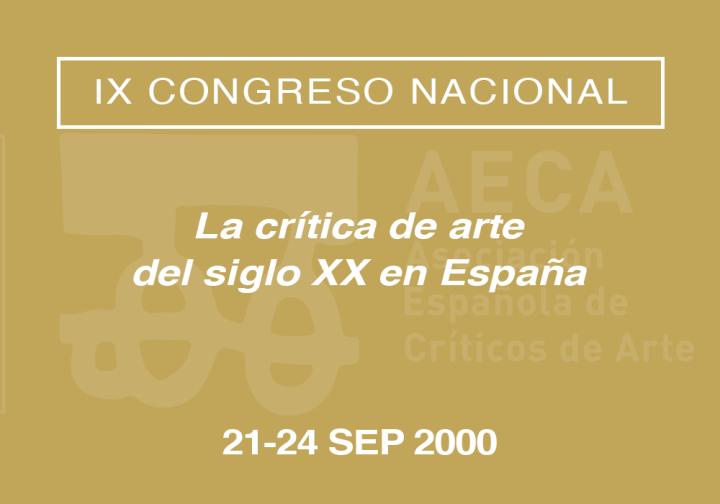 IX Congreso Nacional de la Asociación Española de Críticos de Arte
