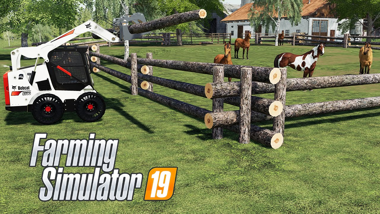How to Build a Log Fence in Farming Simulator 19 - Ai Cave