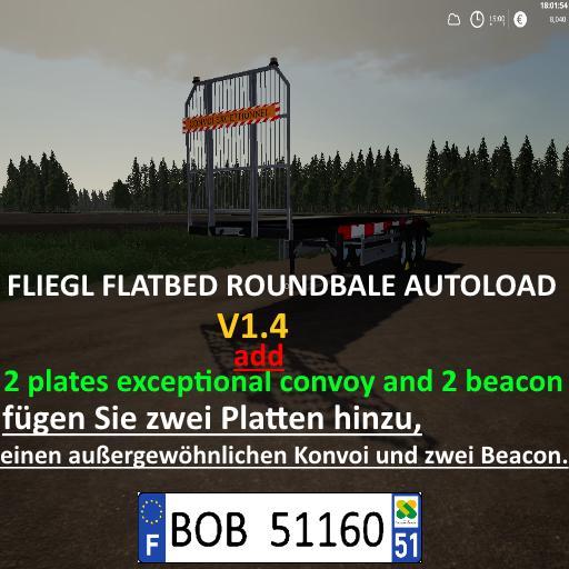 FLIEGL FLATBED ROUND AUTOLOAD - Farming Simulator 19 - Ai Cave