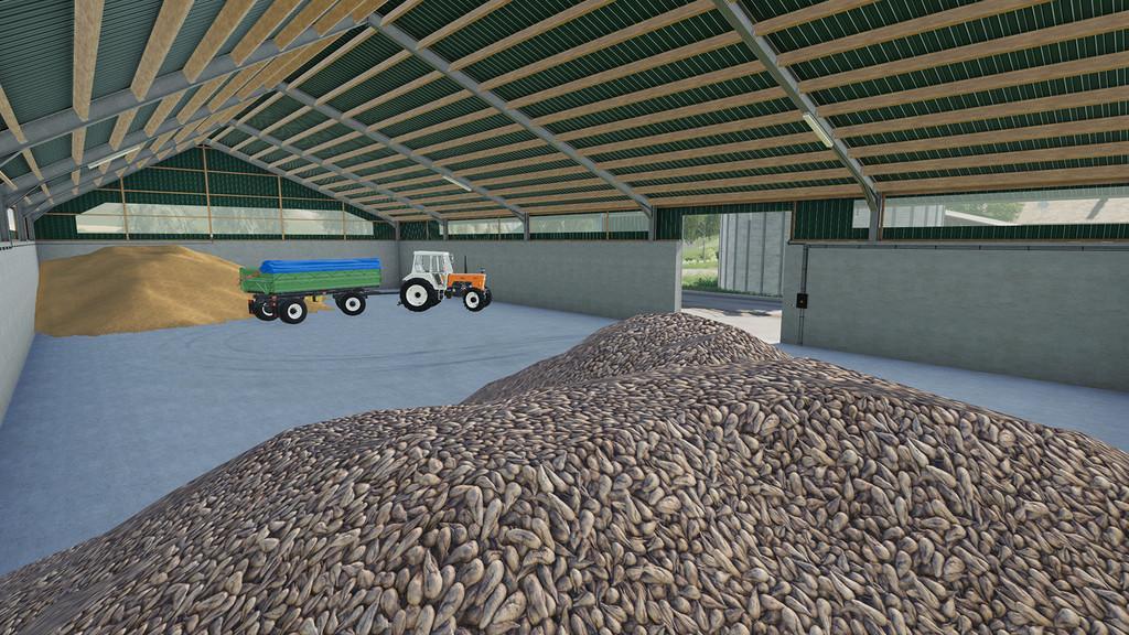 LARGE GRAIN STORAGES - Ai Cave - Farming Simulator 2019 Mods