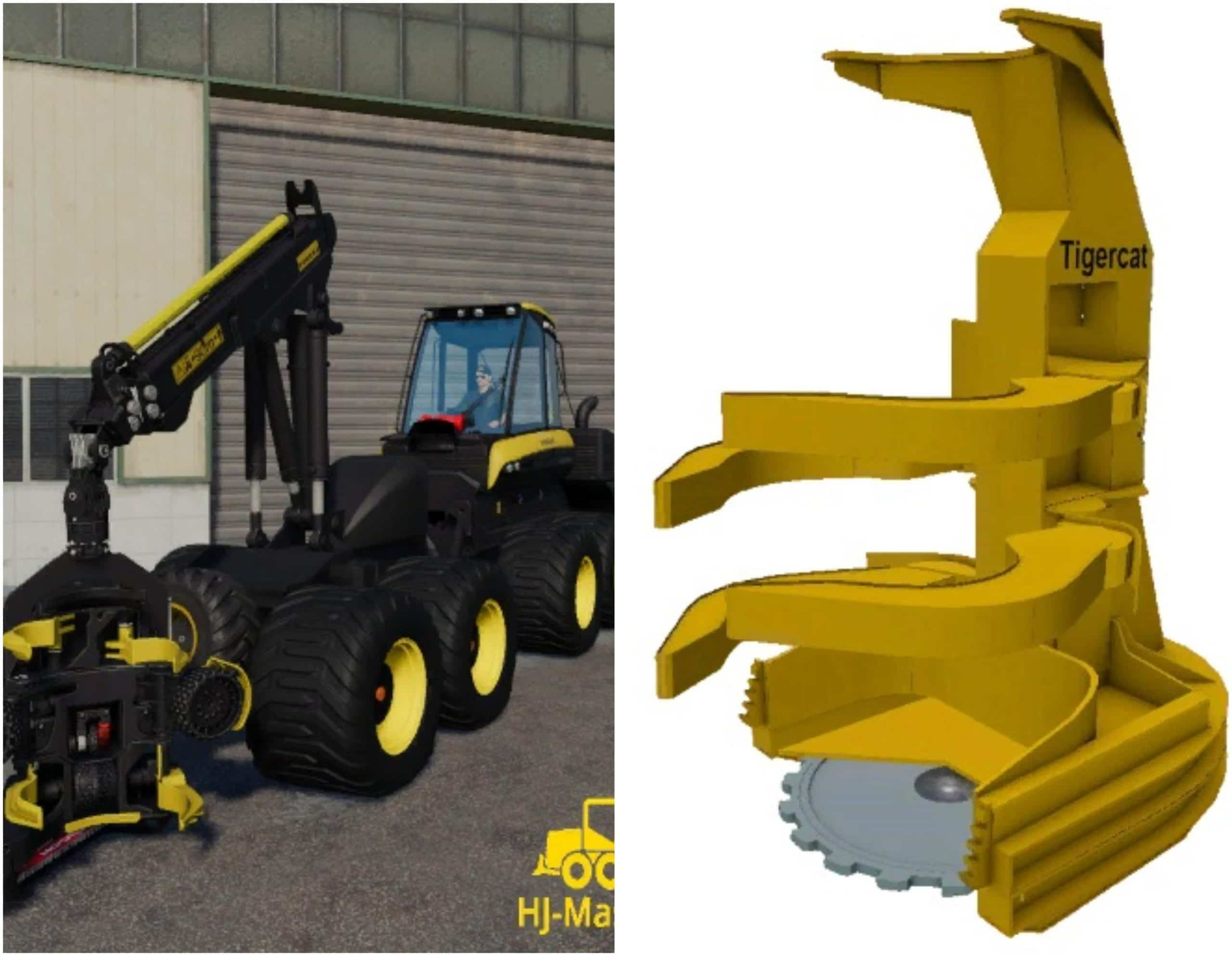 PONSSE BEAR 8W and FELLER BUNCHER - FS2019 Mods - Ai Cave