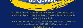 Programmation 2019-2020 Comité de Québec ✨