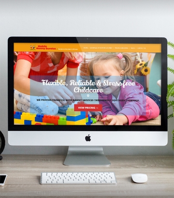 Mobile Nanny Service Mockup small cropped