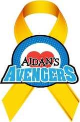 Aidans Avengers Gold Ribbon