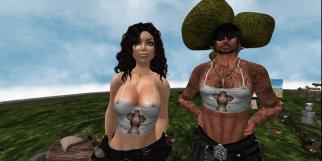 Sas and I demo'ing some 'roo tops