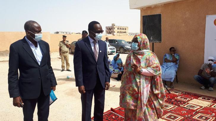 De G. à Droite : Dr.Diagana, Saidou Kaboré et Vatimetou Moulaye.
