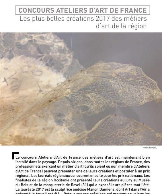 Article dans «Art dans l'air»