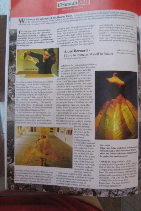 Article dans the artiste