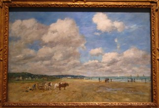 Beach at Deauville, low tide, Eugène Boudin, 1893, oil on canvas
