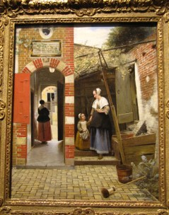 The Courtyard of a House in Delft, 1658, oil on canvas, by Pieter de Hooch
