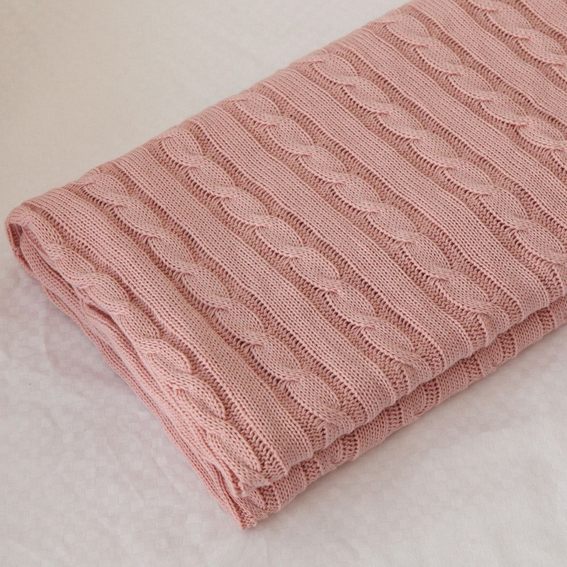 dc4b3da10a046 aidie London cable knit baby blankets soft cotton