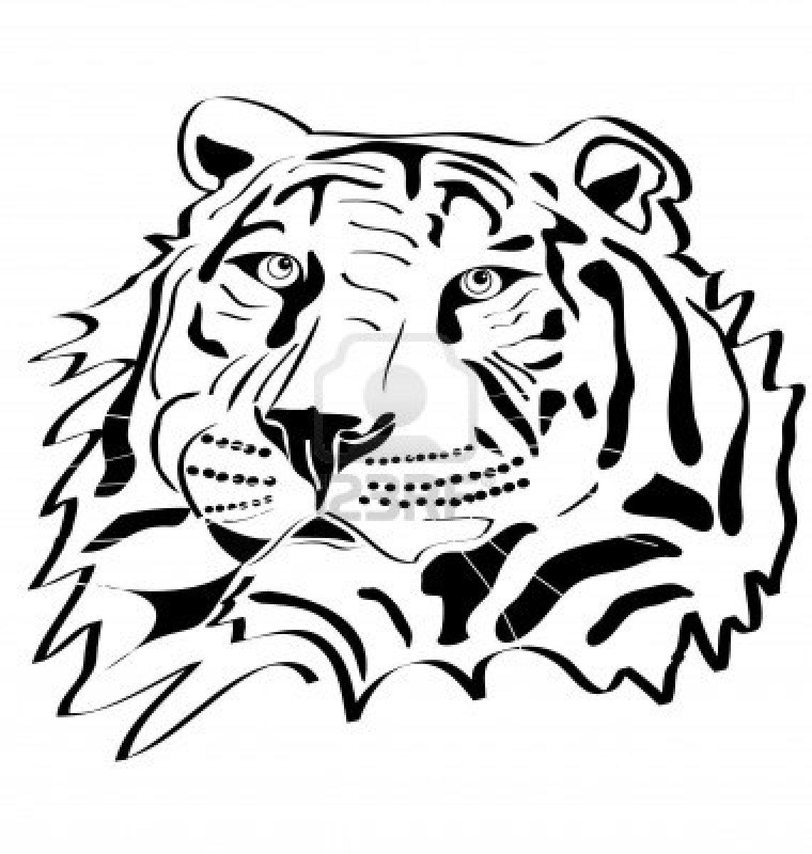 Tiger Head Tattoo Silhouette