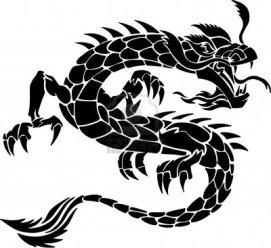 3631725-tribal-tattoo-dragon-vector-illustratie