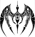 dragon_tribal_tattoo_by_rubbafishe