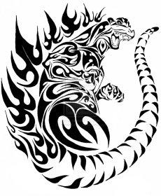 godzilla_tribal_tattoo_by_krissagriffin-d4ct2a0