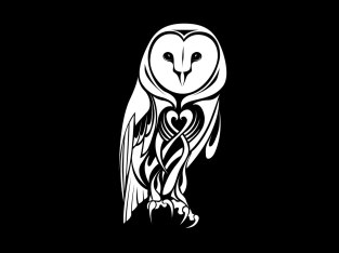 night_tribal_owl_tattoo_idea
