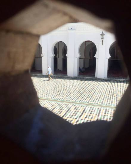 Trying to contemplate through the moucharaby #MoroccanPerspective
