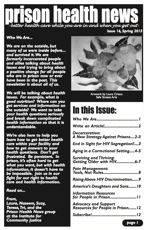 Prison Health News: Spring 2013 Issue! (Plus, other recent ...