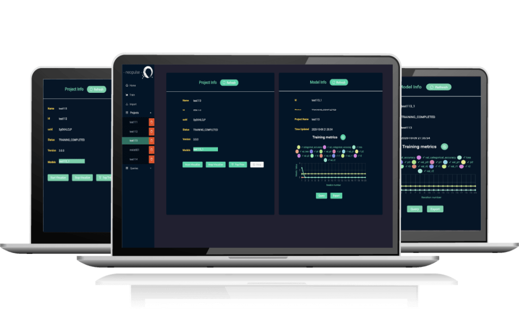 NeoPulse user interface